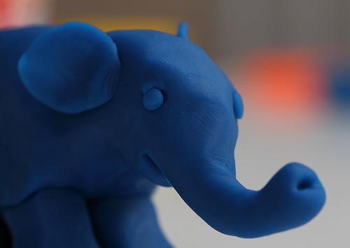 Playdough elephant