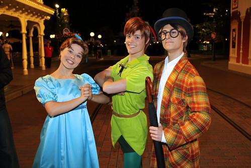 Wendy Darling, Peter Pan and John Darling
