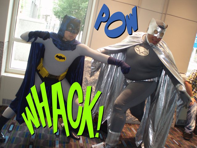 BATMAN VS OWLMAN AT WIZARD WORLD 2011 IN PHILLY