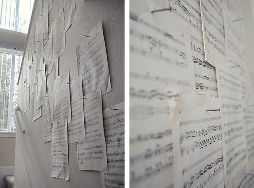 DIY Music Notes Wall