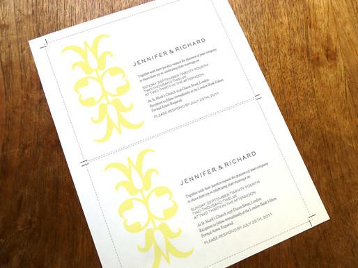 Printable wedding invitation template ornament