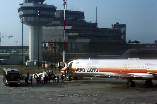Douglas DC-9, Control Tower, Aero Lloyd, National - Zaventem Airport, Brussels (Bruxelles) (BRU), Belgium
