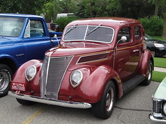 automobile, 1937 ford, vehicle, mid-size car, compact car, hot rod, antique car, classic car, vintage car, land vehicle, motor vehicle,