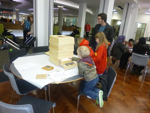Bee Handling Object in use for Central Library reopening and Manchester Histories Festival 22/03/2013