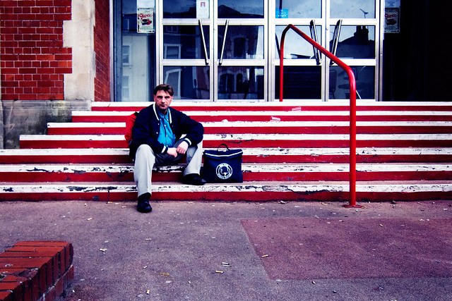 Photograph: Untitled Candid Street Portrait #8; Stokes Croft, Bristol, April 2011. By Simon Holliday.