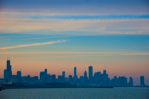 sunset chicago skyline oakland illinois unitedstates pastel lakemichigan il