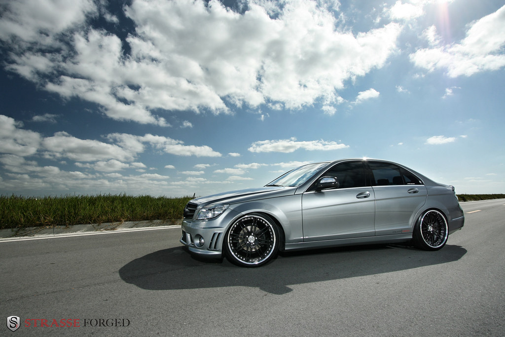Strasse forged wheels mercedes c300 a photo on flickriver for Mercedes benz c300 black rims