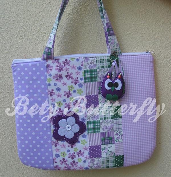 Bolsa De Tecido Para Notebook : Bolsa de tecido para notebook patchwork com chaveiro