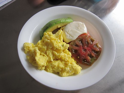 Breakfast, two scrambled eggs, heirloom tom… IMG_5426