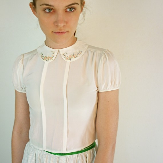 Vintage 1950's Peter Pan Blouse