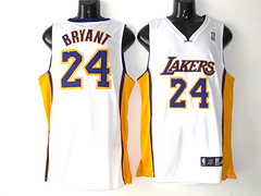 Los Angeles Lakers 24 Kobe Bryant white