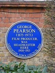 Photo of George Pearson blue plaque
