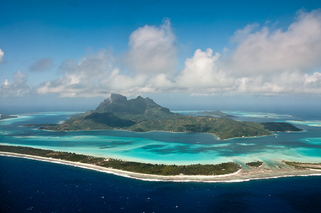 Bora Bora from the Airplane