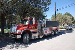 automobile, asphalt, vehicle, truck, transport, trailer truck, fire department, land vehicle, fire apparatus, emergency service,