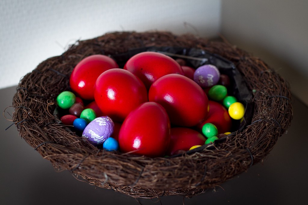 Easter eggs according to Maria's recipe !