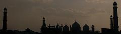 Badshahi Masjid silhouette