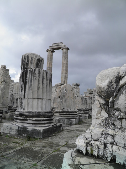 Parts of columns in the temple, Apollo Temple, Didyma