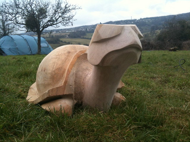 Turtle chainsaw carving flickr photo sharing