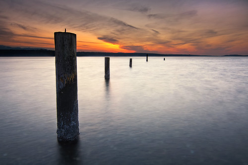 sunset sea beach water washington shore pugetsound pilings hansville kitsappeninsula twinspits
