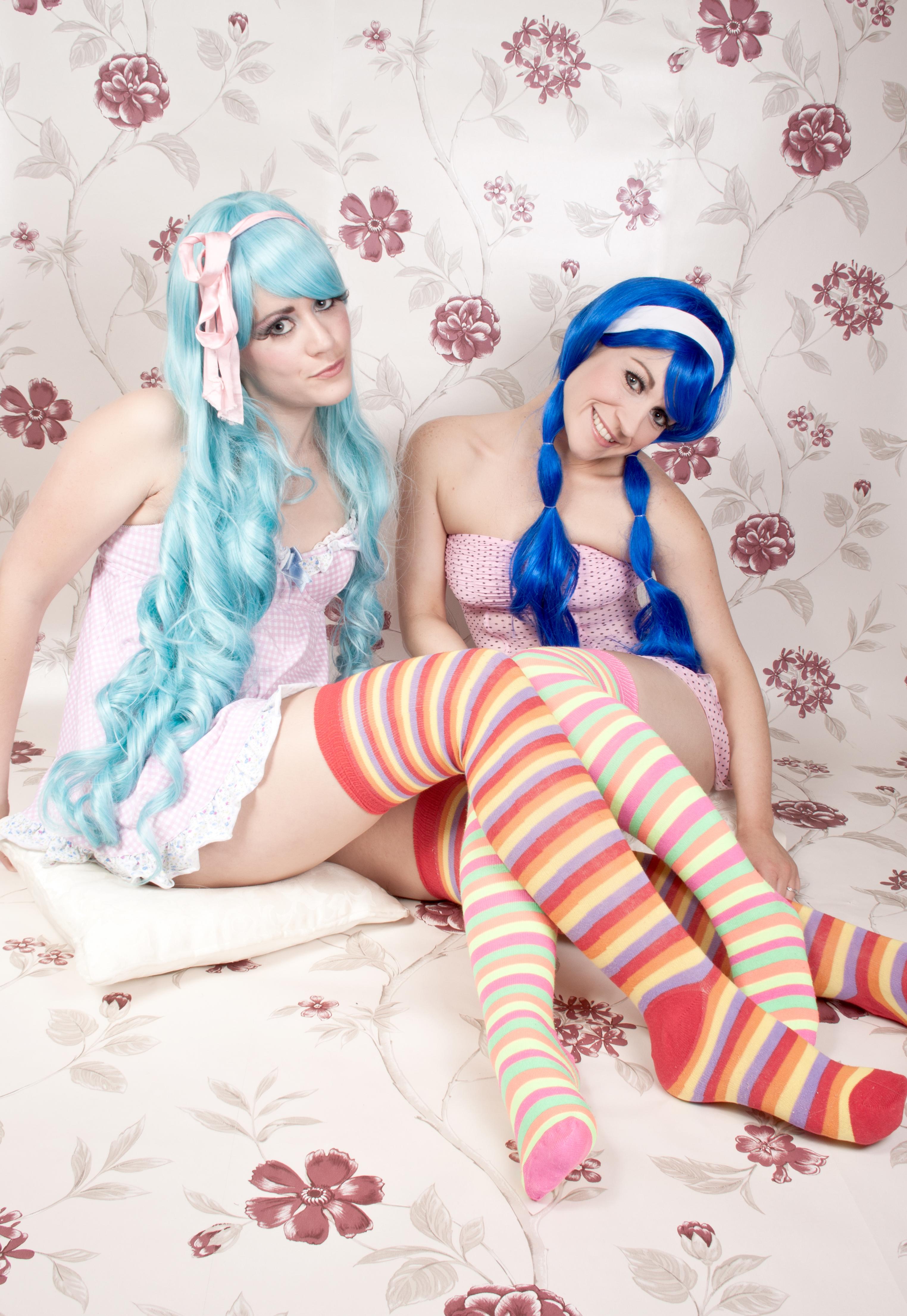 Sexy Socks Manga Girls  Rainbow Long Socks  Tink  Floz -6453