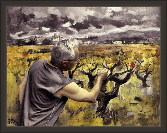 Vi as vi edos paisajes pintura cuadros fotos pintor ernest for Trabajo para pintores