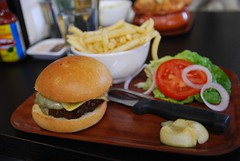 Wagyu Burger, Gryuere Cheese, Small Fries - Trunk…
