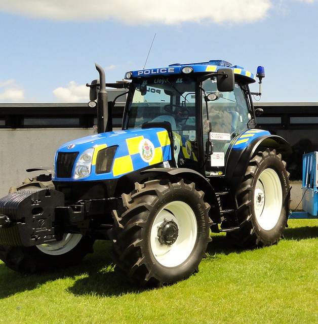 Police Tractor at Dumfries transport show.© All rights are reserved !