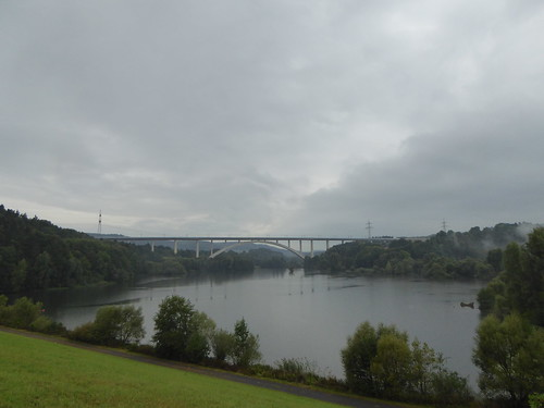 Froschgrundsee Viaduct on a  rainy day