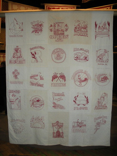 Red & White Flour sack quilt