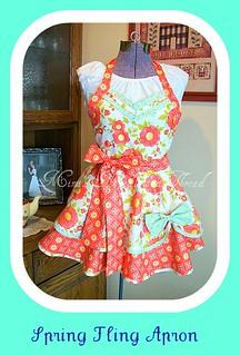 spring fling apron