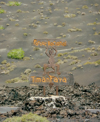 Timanfaya National Park Entrance
