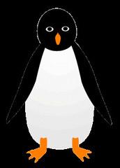 penguin sketch clipart 11cm