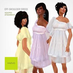Kazuo - Off-Shoulder Dress Promo