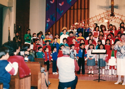 Spanish language children's choir at St John Vianney