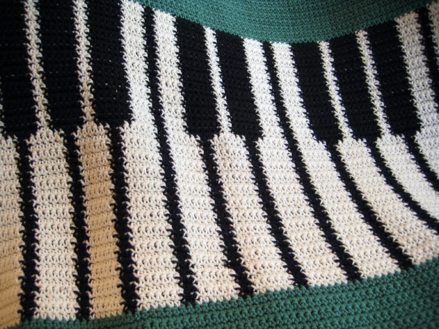 Crochet Pattern For Piano Afghan : Piano Afghan 2 Flickr - Photo Sharing!