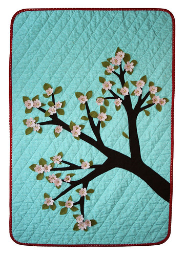 cherry blossoms quilt