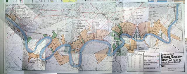 Baton Rouge - New Orleans : How the plantations have transitioned to petro-chemical industries along the Mississippi  - section 2
