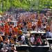Crowded Prinsengracht of Amsterdam by B℮n