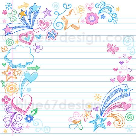 Sketchy Back to School Notebook Doodles by blue67design ...