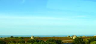 Trulli dans la campagne, Pouilles, Italie