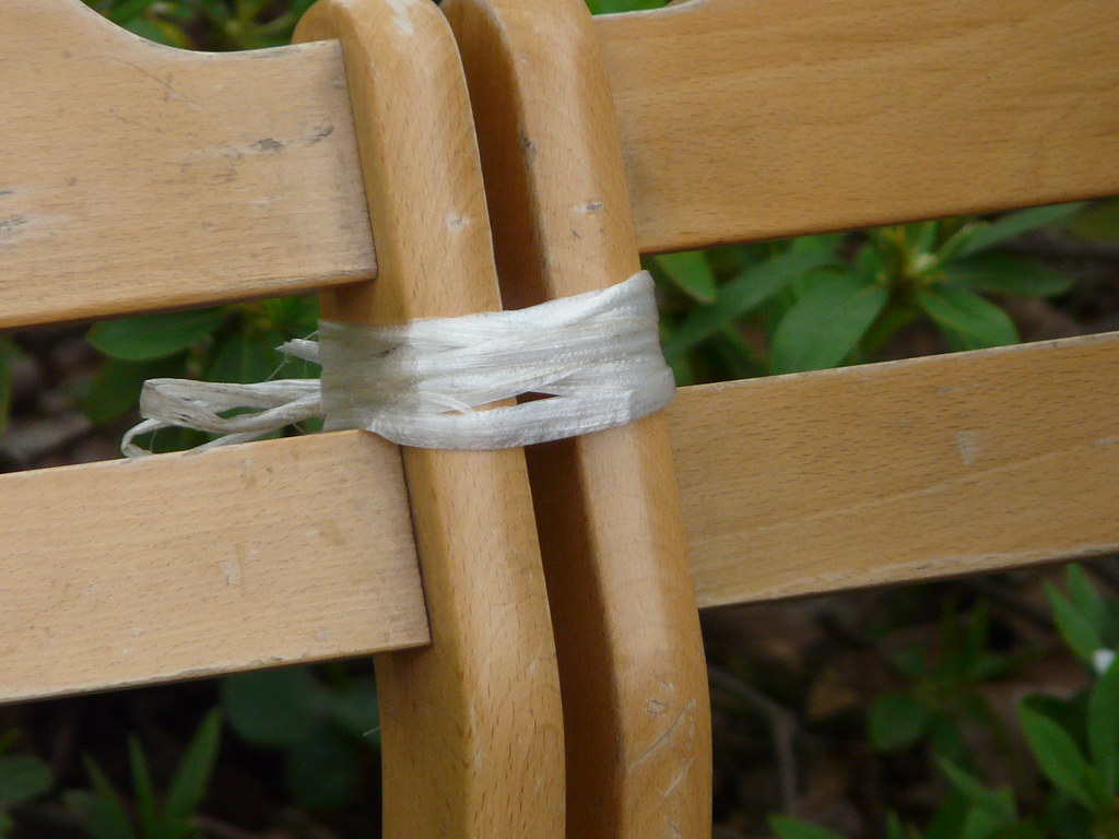 Park Bench in Plastic Twine