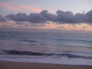 Early morning waves on Waimanalo Beach