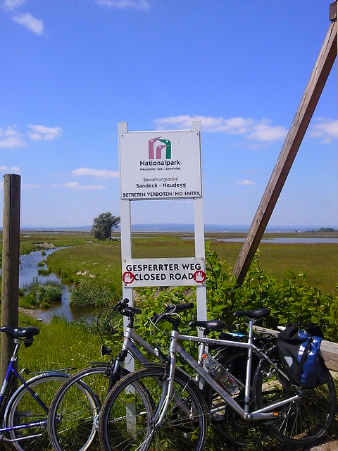 The national park at Lake Neusiedl in Burgenland Austria famous for bird watching