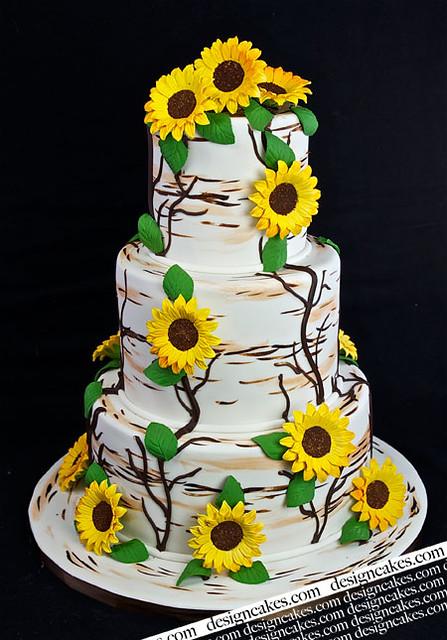 sunflower wedding cake flickr photo sharing. Black Bedroom Furniture Sets. Home Design Ideas