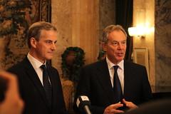 Jonas Gahr Støre og Tony Blair
