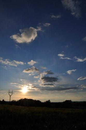kurtz vor Sonnenuntrgang
