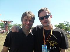 Guy with comedian John Bishop