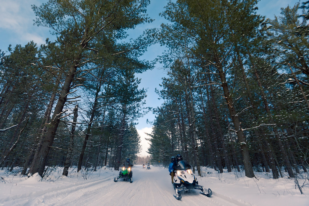 Pure Michigan Winter. Snowmobiling.
