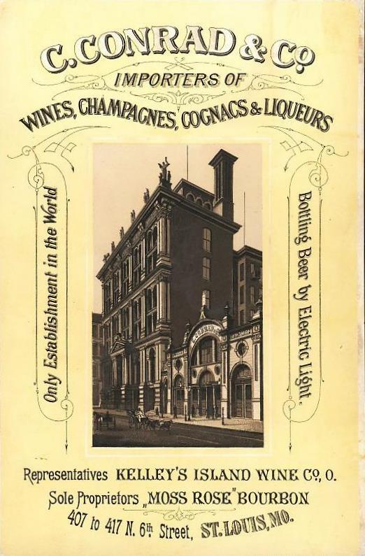 1879 ca  Card  C Conrad & Co Budweiser 407 N 6th St  Louis MO