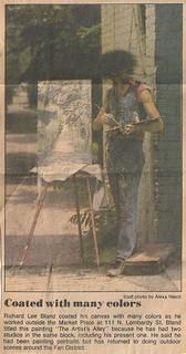 Richard Lee Bland Newspaper Photo